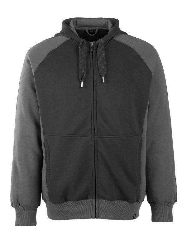 Sweat capuche zippé - MASCOT UNIQUE noir et gris foncé