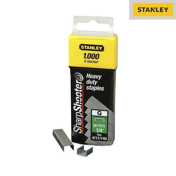 Agrafes type G - 10mm - Boite de 1000 pièces - Stanley