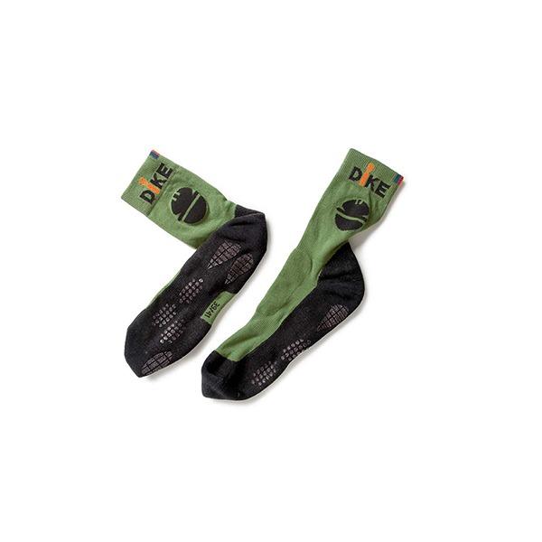 chaussettes de travail dike verte