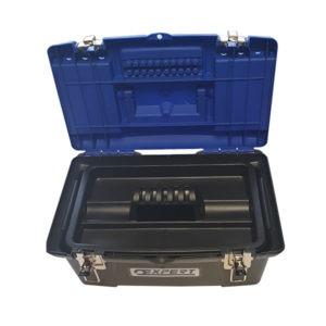 Boîtes de rangement en plastique 41cm - Couvercle ouvert - Expert By Facom