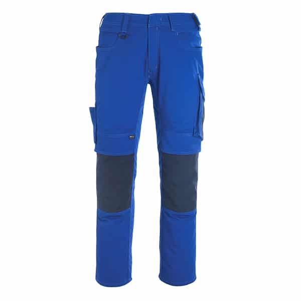 Pantalon poche genouillères erlangen bleu roi et marine foncé | MASCOT