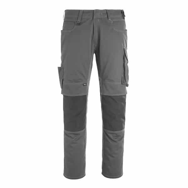 Pantalon poche genouillères erlangen gris foncé et noir | MASCOT