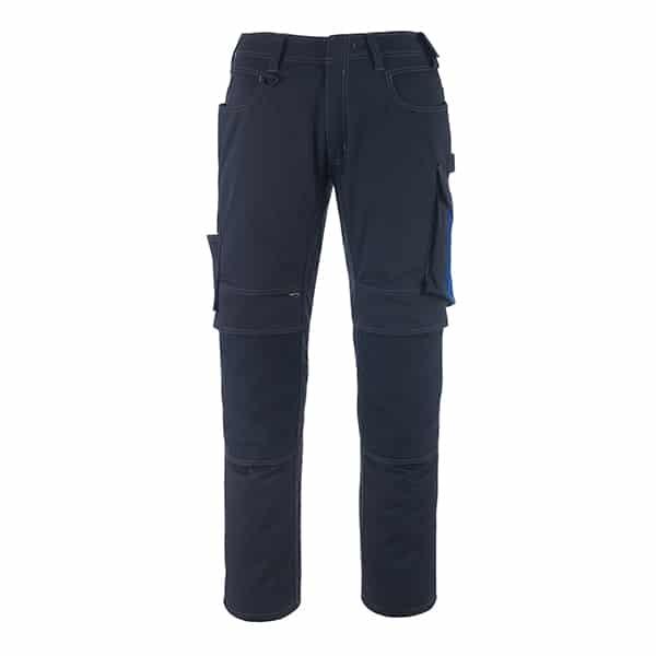 Pantalon poche genouillères erlangen marine foncé et bleu | MASCOT