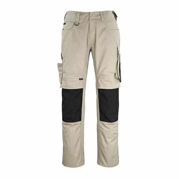 Pantalon poche genouillères erlangen sable et noir | MASCOT