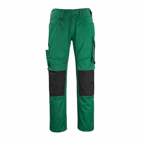 Pantalon poche genouillères erlangen vert et noir | MASCOT