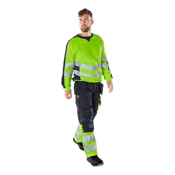 Pantalon de travail Safe Suprême marine de profil | MASCOT