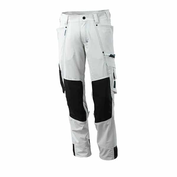 Pantalon avec poches genouillères blanc | Mascot Advanced