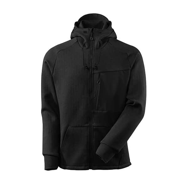 Sweat capuche zippé noir   MASCOT Advanced
