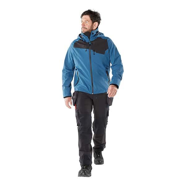 Veste d'extérieur bleue et noire de face | MASCOT Advanced