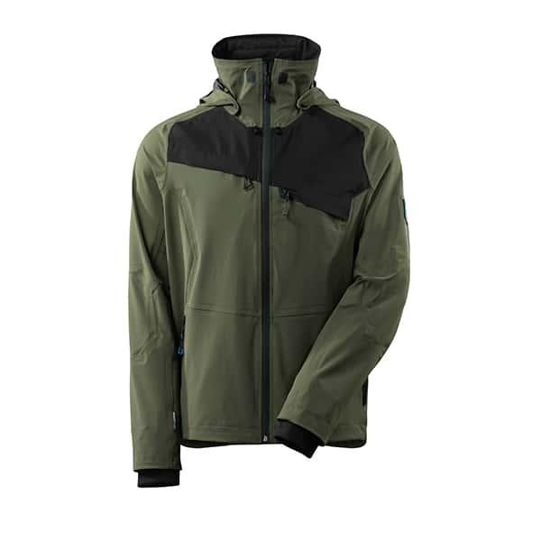 Veste d'extérieur vert foncé et noire | MASCOT Advanced