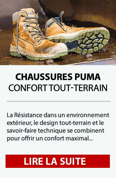 Chaussures de sécurité PUMA - Confort tout-terrain
