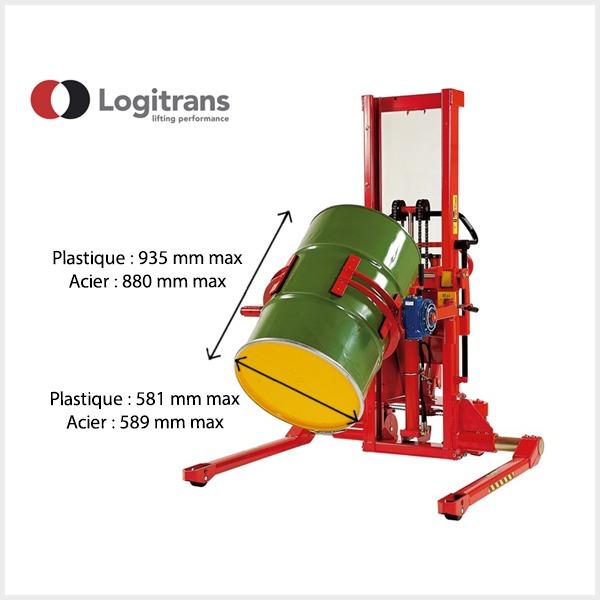 Retourneur de fûts Logitrans - 250Kg