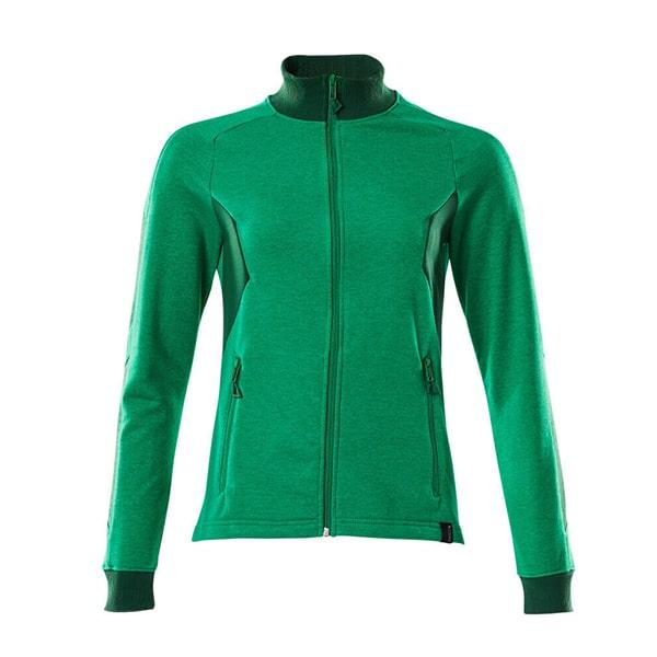 Sweatshirt zippé Mascot coupe femme - ACCELERATE vert