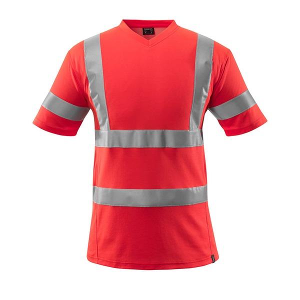 T-Shirt avec bandes réfléchissantes - MASCOT Safe Classic rouge