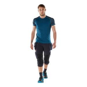 T-shirt coupe moderne - MASCOT Advanced bleu foncé de face