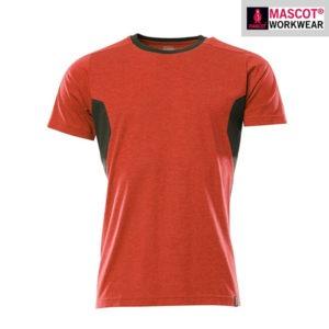 T-Shirt Mascot - ACCELERATE - Femme - rouge et noir