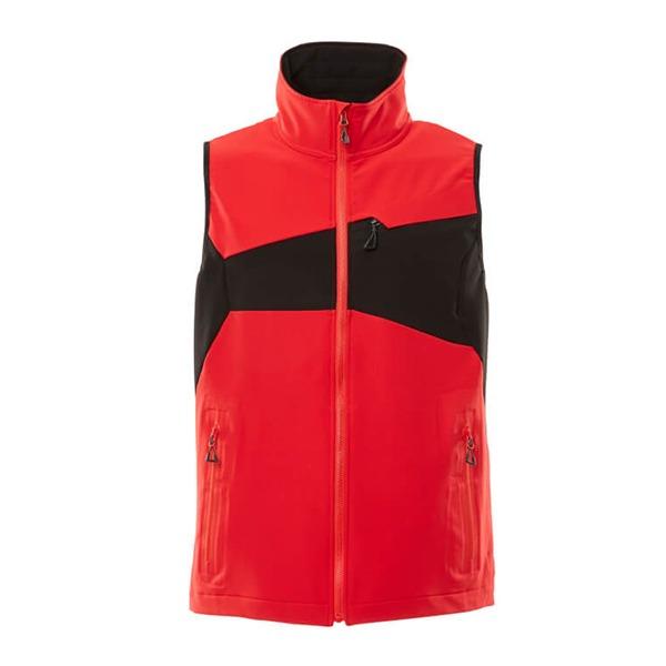 Gilet Stretch Léger rouge et noir | MASCOT Accelerate