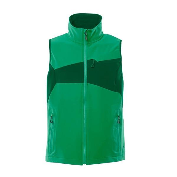 Gilet Stretch Léger vert gazon et vert bouteille | MASCOT Accelerate