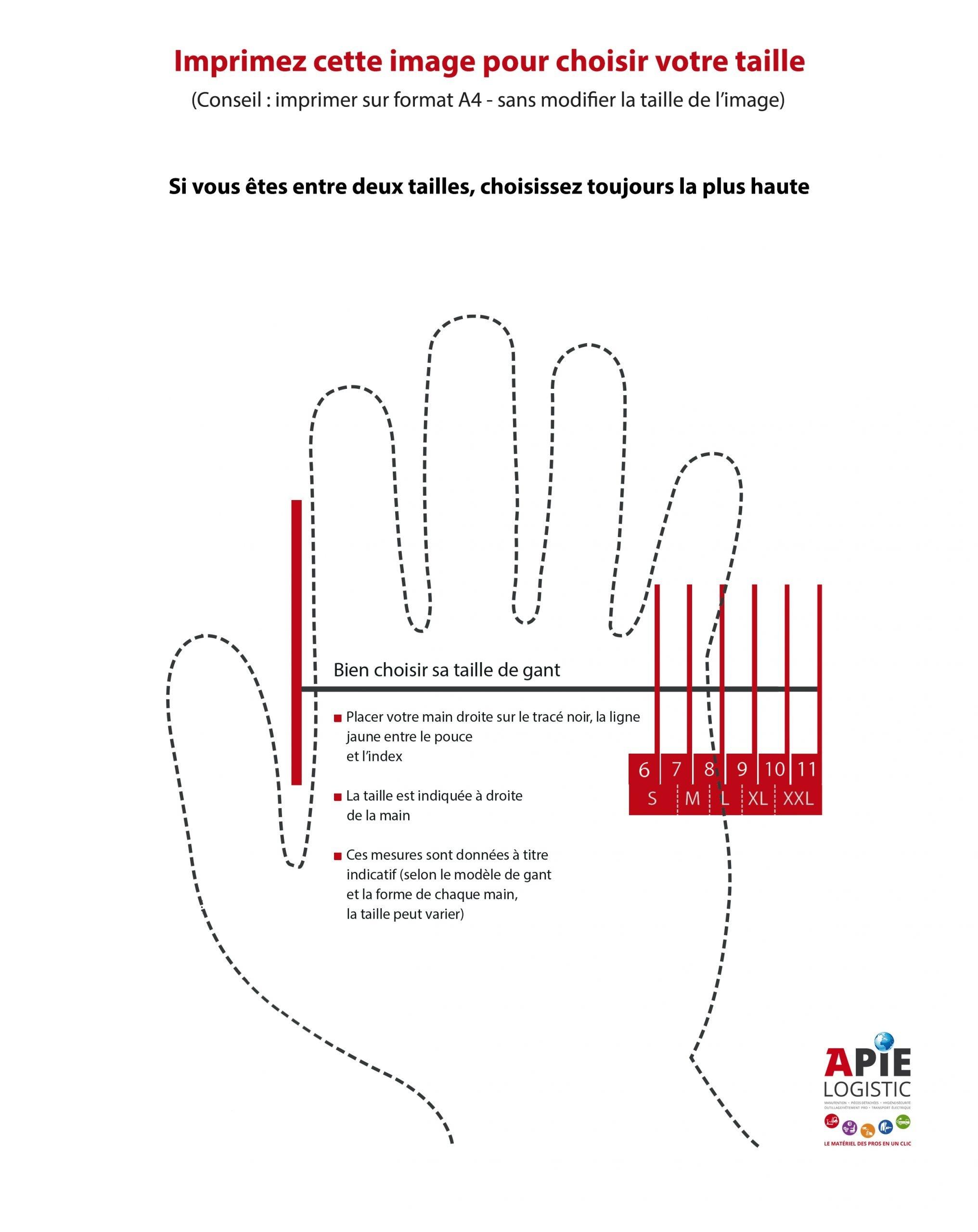 Guide des tailles pour choisir vos gants