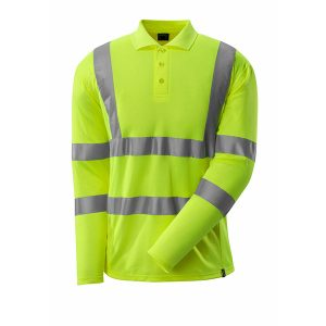 Polo Fluorescent Manches Longues jaune | MASCOT Safe Classic