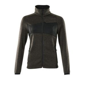 Pull zippé Mascot pour femme - ACCELERATE gris foncé et noir