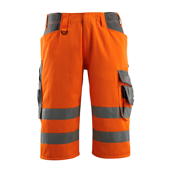 Short long Fluorescent 'Luton' orange et gris foncé | MASCOT