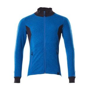 Sweat-shirt zippé - coupe moderne bleu et marine foncé | MASCOT Accelerate