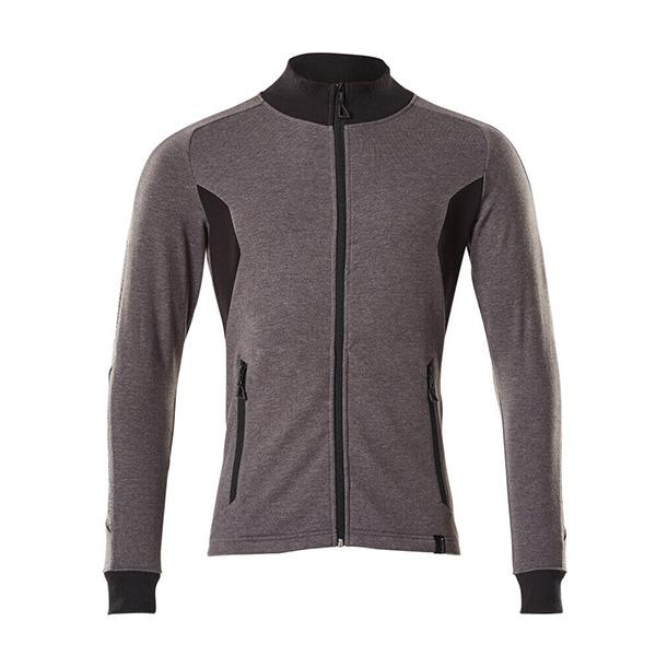 Sweat-shirt zippé - coupe moderne gris foncé et noir | MASCOT Accelerate