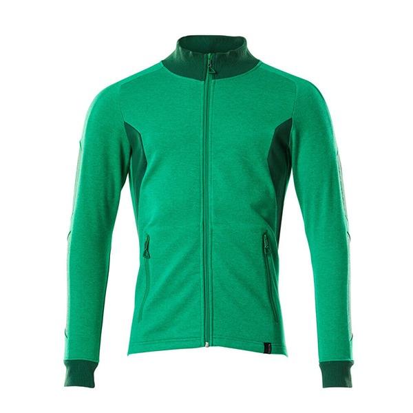Sweat-shirt zippé - coupe moderne vert gazon et vert bouteille | MASCOT Accelerate