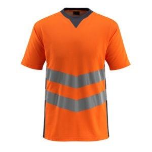 T-Shirt bicolore fluorescent orange et marine foncé | MASCOT Sandwell
