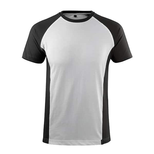 T-Shirt Potsdam blanc et gris foncé | MASCOT