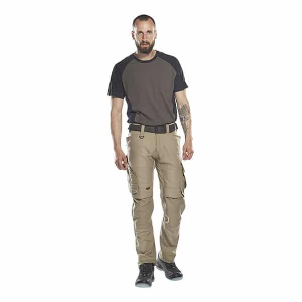 T-Shirt Potsdam gris foncé et noir homme de face | MASCOT