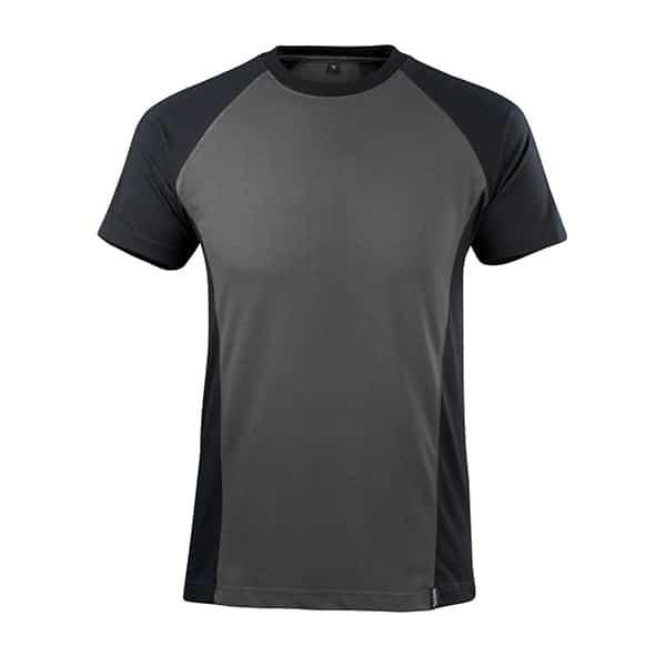 T-Shirt Potsdam gris foncé et noir | MASCOT