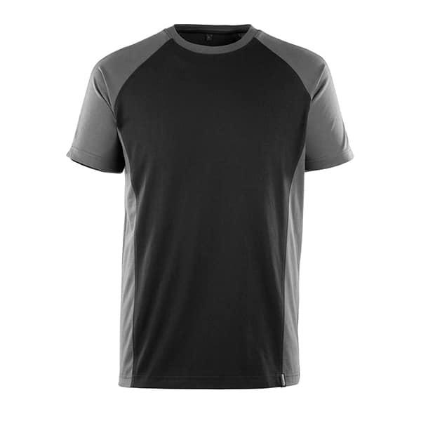 T-Shirt Potsdam noir et gris foncé | MASCOT