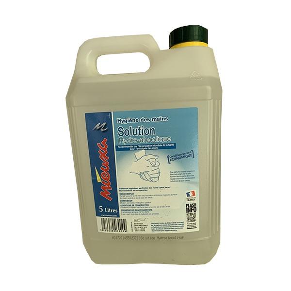 Solution Hydroalcoolique COVID19 - Bidon de 5L