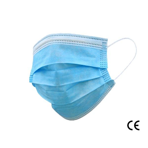 Masques médicaux 3 plis de type 1 - Boite de 50