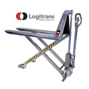 Transpalette Manuel Haute-Levée en Inox - Capacité de 1500kg - Logitrans