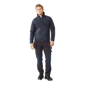 Pantalon de travail avec poches flottantes marine foncé de face | MASCOT Accelerate