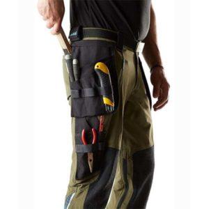 Pantalon de travail avec poches flottantes vert foncé détails | MASCOT Advanced