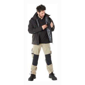 Pantalon de Travail avec poches genouillères en Dyneema sable clair de face | MASCOT