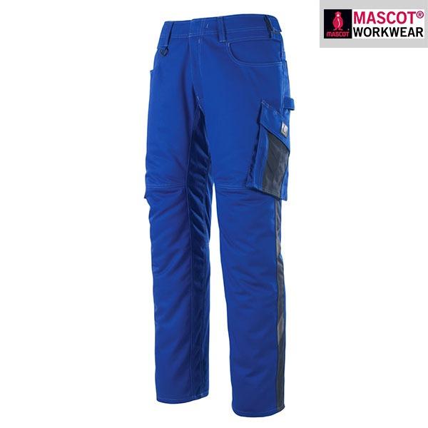 Pantalon de travail Mascot DORTMUND - Bleu Roi et Marine Foncé