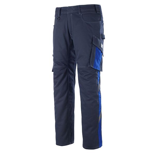 Pantalon de travail Mascot DORTMUND - Marine Foncé et Bleu Roi
