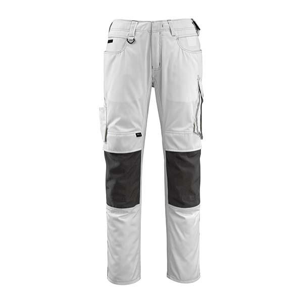 Pantalon de travail Mascot - UNIQUE MANNHEIM blanc et gris foncé