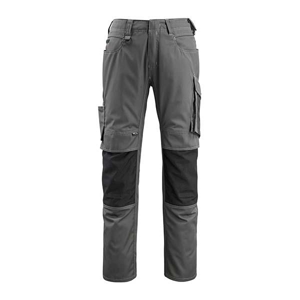 Pantalon de travail Mascot - UNIQUE MANNHEIM gris foncé et noir