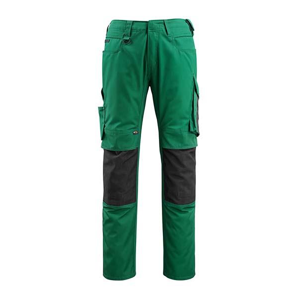 Pantalon de travail Mascot - UNIQUE MANNHEIM vert bouteille et noir
