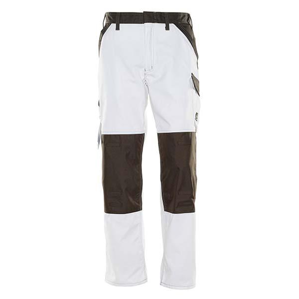 Pantalon Mascot avec poches genouillères - LIGHT TEMORA blanc et gris foncé