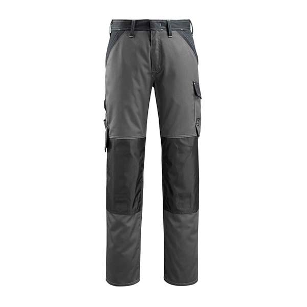 Pantalon Mascot avec poches genouillères - LIGHT TEMORA gris foncé et noir