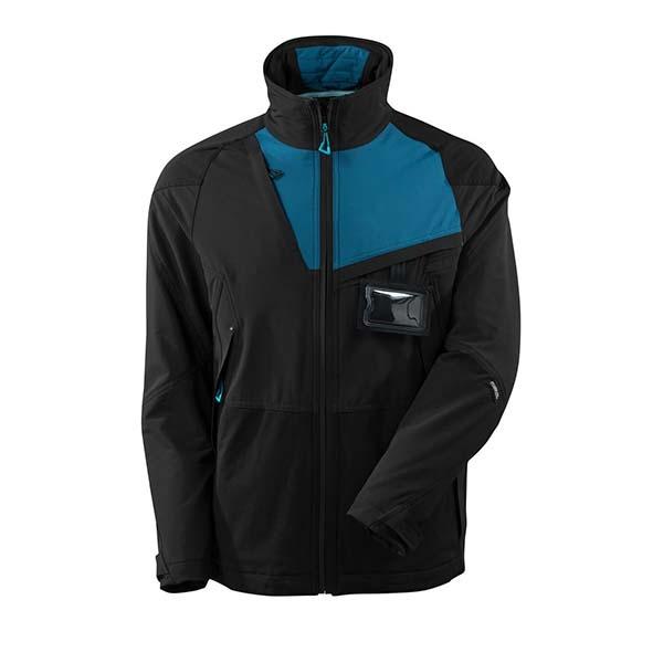 Veste d'extérieur Stretch - MASCOT ADVANCED noir et bleu pétrole foncé
