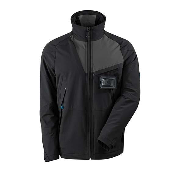 Veste d'extérieur Stretch - MASCOT ADVANCED noir et gris foncé