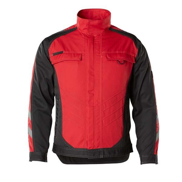 Veste de travail légère Mascot - UNIQUE FULDA rouge et noir